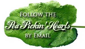 Click to follow the Pea Pickin' Hearts by Email!
