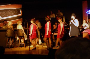 Rachel as Liza Minelli in Live from Las Vegas at the Pine Tree Playhouse!