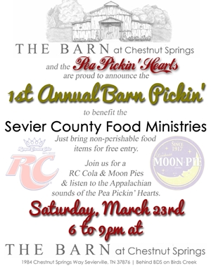 1st Annual Barn Pickin' on Saturday, March 23, 2013!