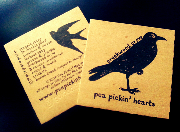 Creekwood Crow CD from the Pea Pickin' Hearts!