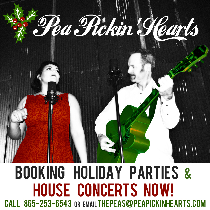 Book your Pea Pickin' Hearts for your Holiday Party or House Concert today!