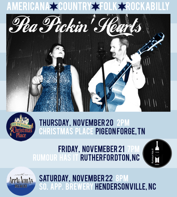 Come hear the Pea Pickin' Hearts THIS weekend!
