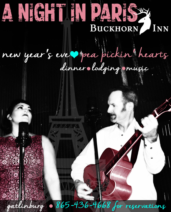 Join the Pea Pickin' Hearts at Buckhorn Inn for New Year's Eve!