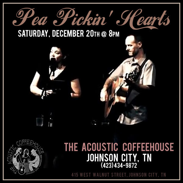 Hear the Pea Pickin' Hearts at Acoustic Coffeehouse!