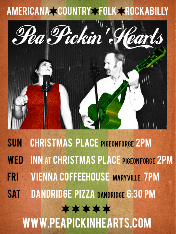 Come see the Pea Pickin' Hearts this December!