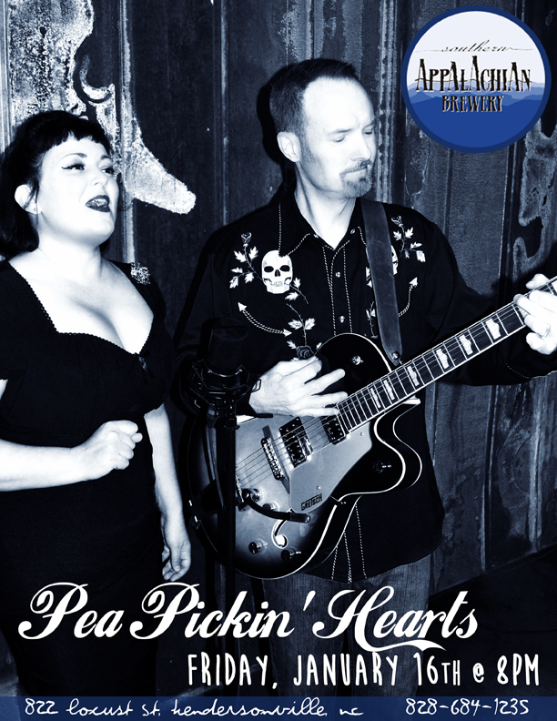 See the Pea Pickin' Hearts at Southern Appalachian Brewery  in Hendersonville!