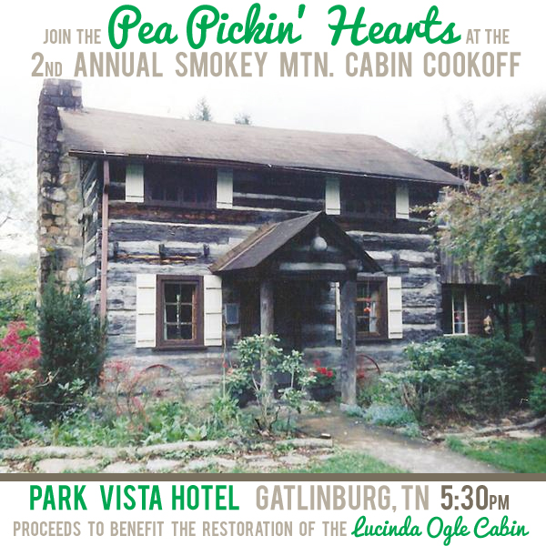 See the Pea Pickin' Hearts at the Lucinda Ogle Cabin Cook off!