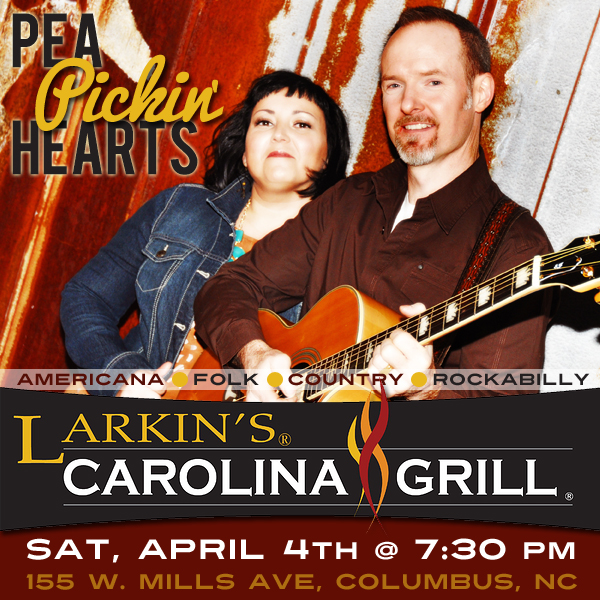 Come see the Pea Pickin' Hearts at Larkins Carolina Grill!