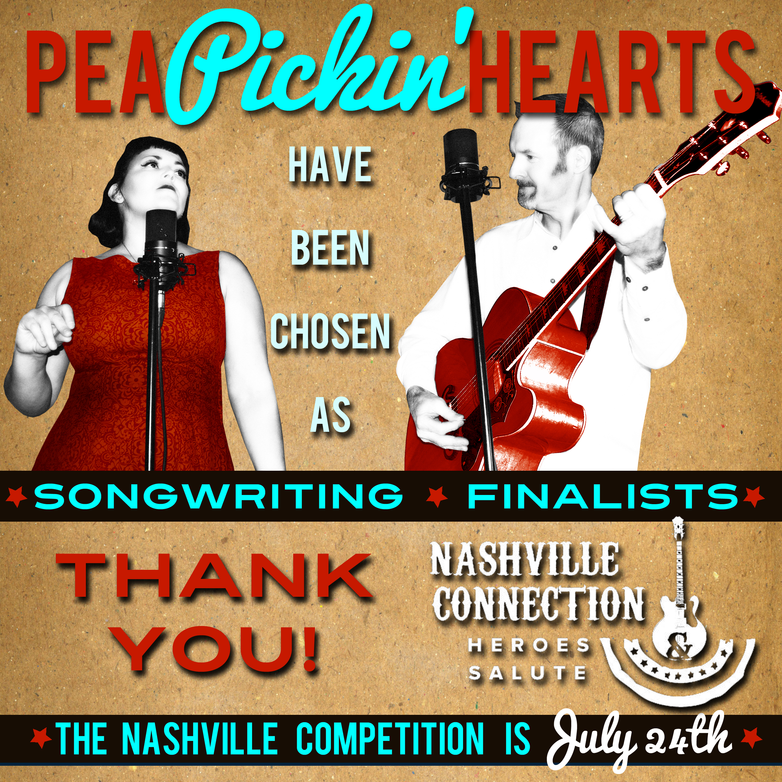 The Pea Pickin' Hearts are Songwriting Finalists for the Nashville  Connection 2015 Songwriting Competition!