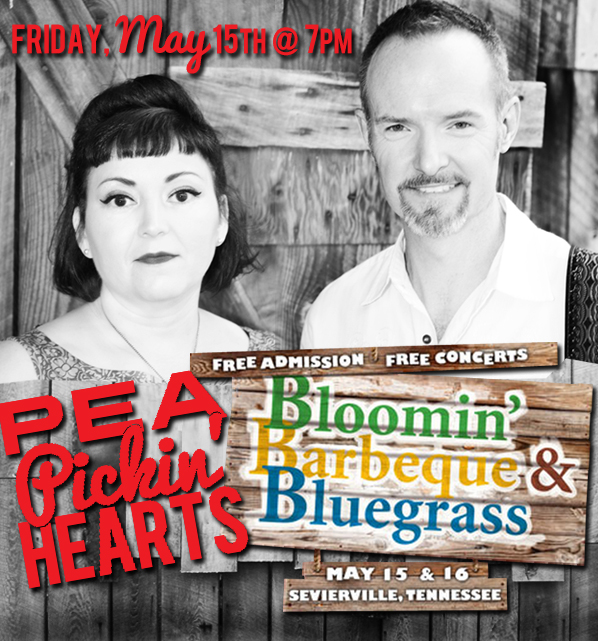 Pea Pickin' Hearts at the Bloomin' BBQ & Bluegrass Festival!
