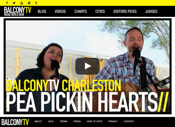 Magpie Mary by the Pea Pickin' Hearts on BalconyTV Charleston!