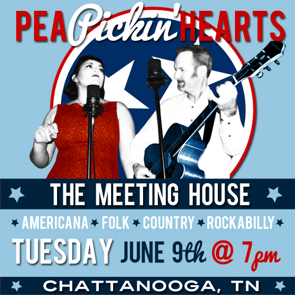 See the Pea PIckin' Hearts at The Meeting House in Chattanooga, TN!