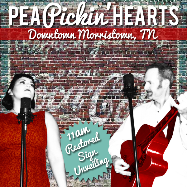 Celebrate with the Pea Pickin' hearts in Downtown Morristown, TN!