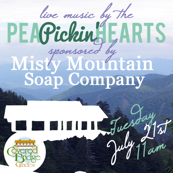 Come hear the Pea Pickin' Hearts at Covered Bridge!