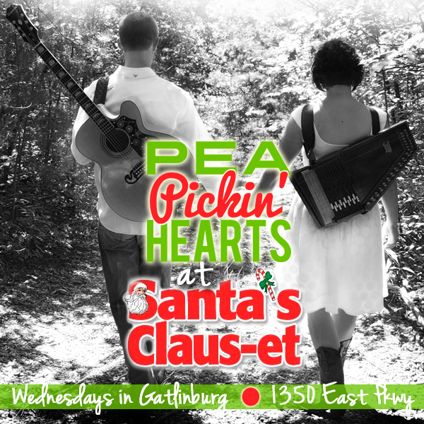 Hear the Pea Pickin' Hearts at Santa's Claus-et on Wednesdays!