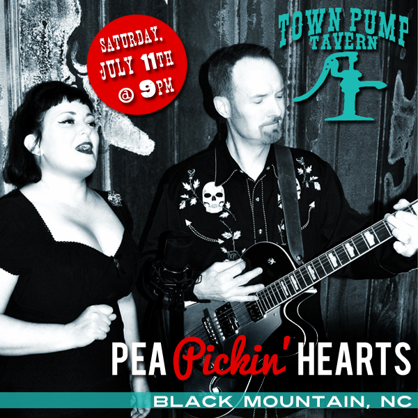 Come hear the Pea Pickin' Hearts at the Town Pump Tavern in Black Mountain, NC!