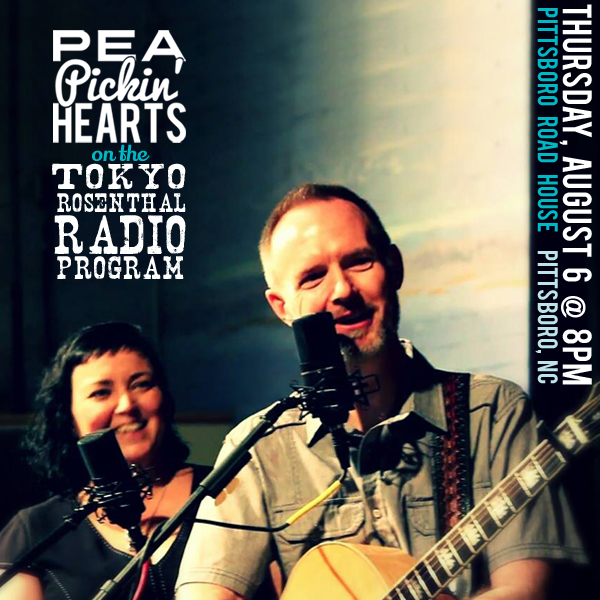 Be in the audiences as the Pea Pickin' Hearts record the Tokyo Rosenthal Radio Program!