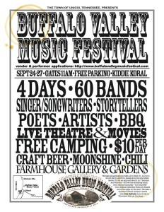 Hear the Pea Pickin' Hearts at the Buffalo Valley Folk Festival in Unicoi, TN!