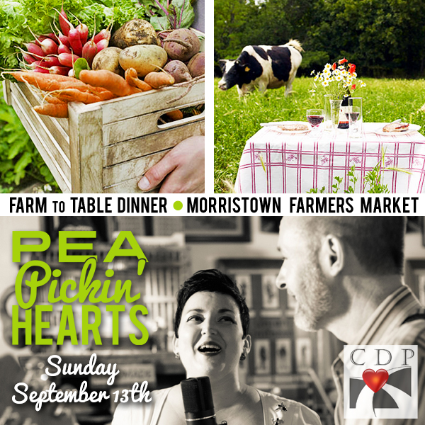 Hear the Pea Pickin' Hearts at the Farm to Table Dinner at the Morristown Farmer's Market in Morristown, TN!