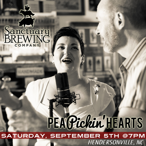 Come hear the PEA PICKIN HEARTS live at Santuary Brew Co in Hendersonville, NC!