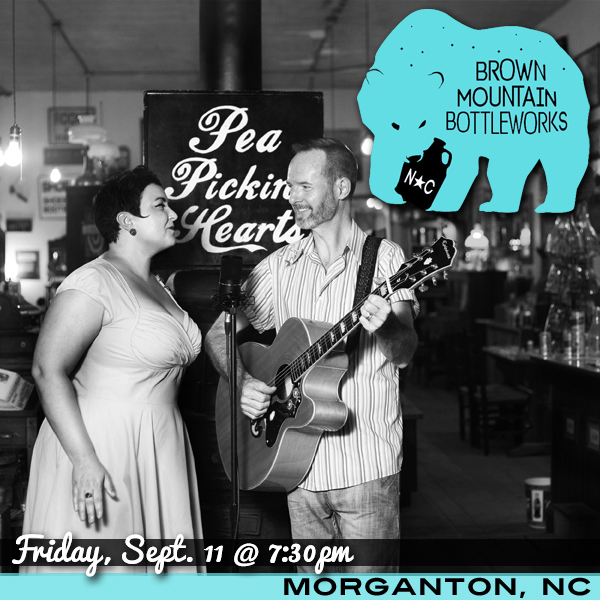 Hear the Pea Pickin' Hearts at Brown Mountain Bottleworks in Morganton, NC!