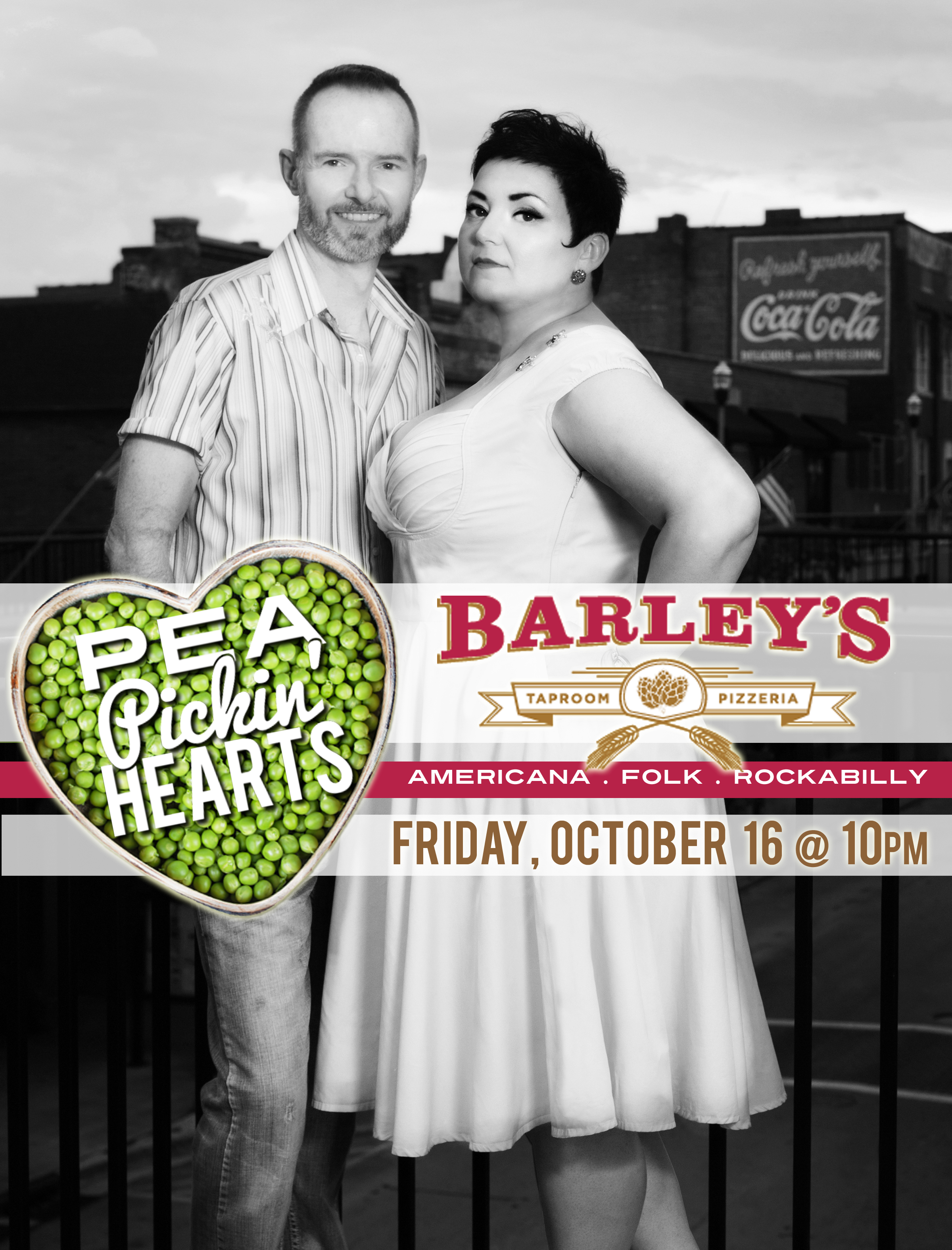 Hear the Pea Pickin' Hearts at Barley's Listening Room in Maryville, TN!