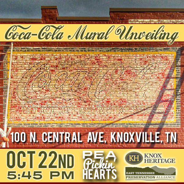 Hear the Pea Pickin' Hearts in Knoxville, TN at the latest of the Coca-Cola Mural Unveilings!
