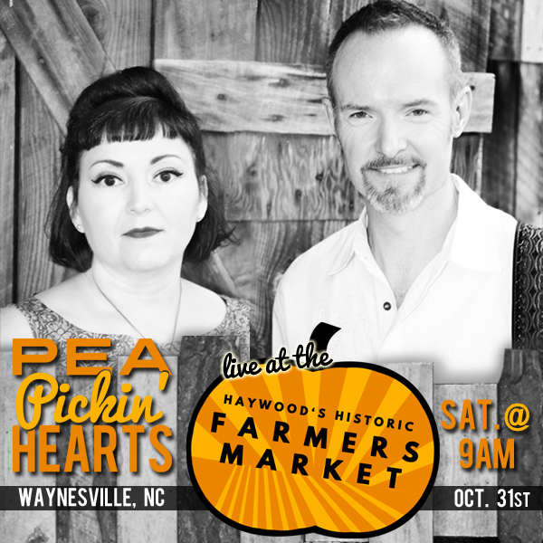 Hear the Pea Pickin' Hearts at the Historic Haywood Farmers Market in Waynesville, NC!