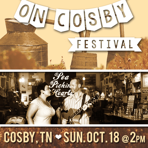 Hear the Pea Pickin' Hearts at the On Cosby Festival in Cosby, TN!