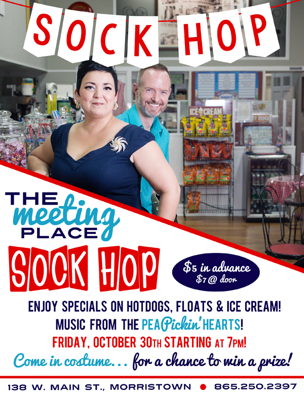 Hear the Pea Pickin' Hearts at the Sock Hop at The Meeting Place in Morristown, TN!