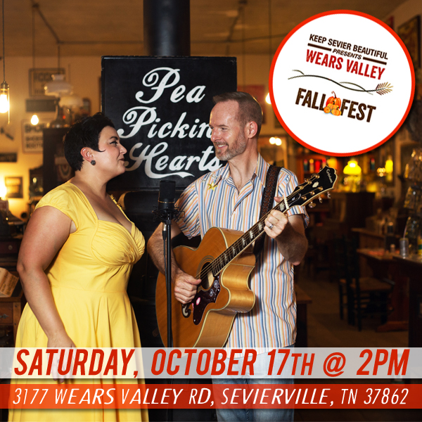 Hear the Pea Pickin' Hearts at Wears Valley Fall Fest in Sevierville, TN!