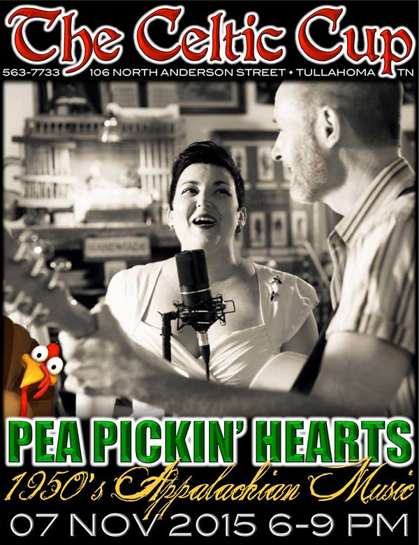 Hear the Pea Pickin' Hearts at The Celtic Cup in Tullahoma, TN!