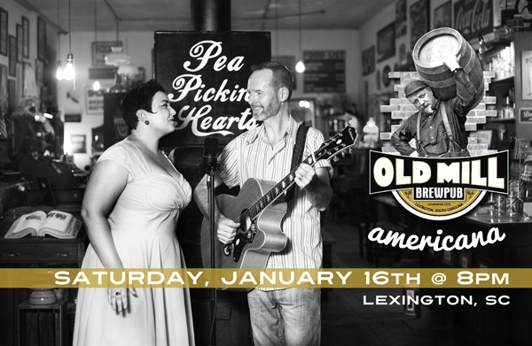 Hear the Pea Pickin' Hearts at the Old Mill Brew Pub in Lexington, SC!