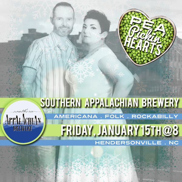 See the Pea Pickin' Hearts at Southern Appalachian Brewery in Hendersonville, NC!