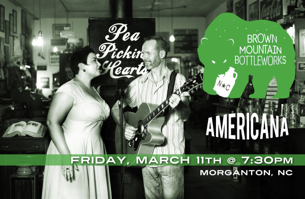 See the Pea Pickin' Hearts at Brown Mountain Bottleworks in Morganton, NC!