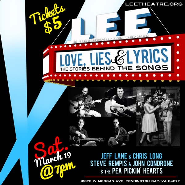 Hear the Pea Pickin Hearts at the historic Lee Theatre in Pennington Gap, VA!