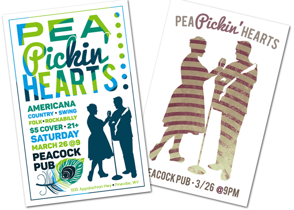 Hear the Pea Pickin' Hearts at Peacock Pub in Pineville, WV!