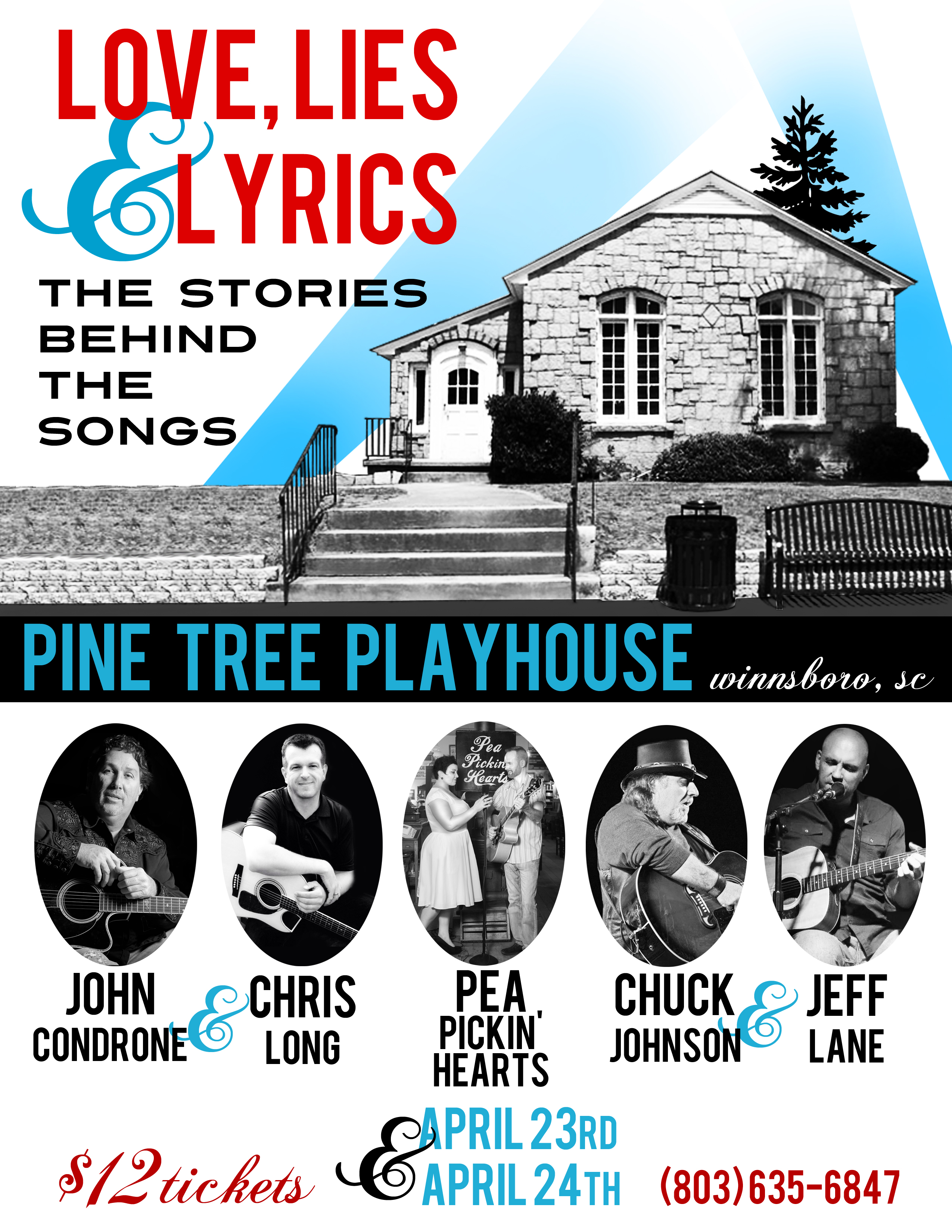 Hear the Pea Pickin' Hearts at Pine Tree Playhouse in Winnsboro, SC!