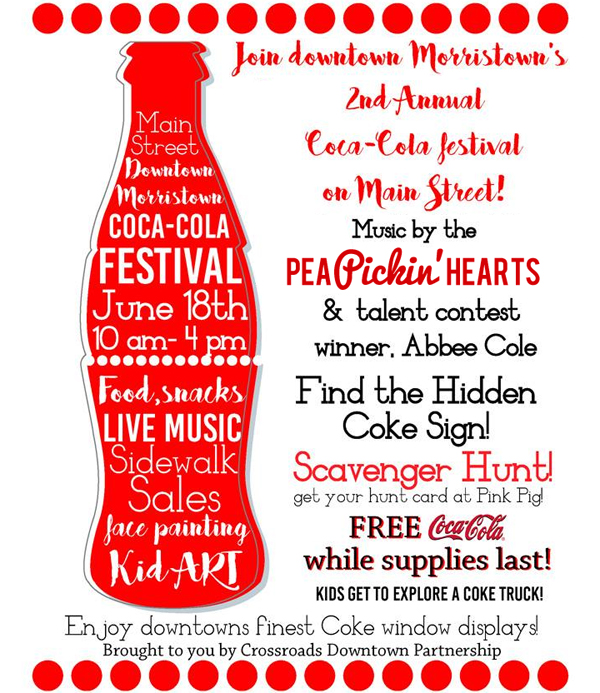 Hear the Pea Pickin' Hearts at the 2nd Annual Coca-Cola Festival in Morristown, TN!