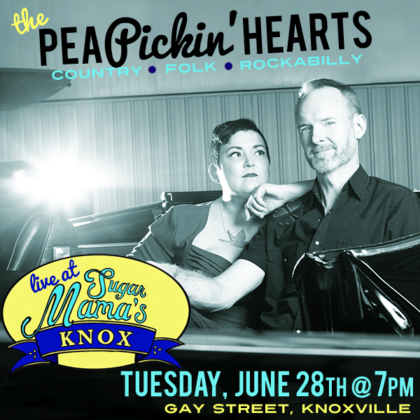Hear the Pea Pickin' Hearts at Sugar Mama's in Knoxville, TN on Tuesday, June 28, 2016!