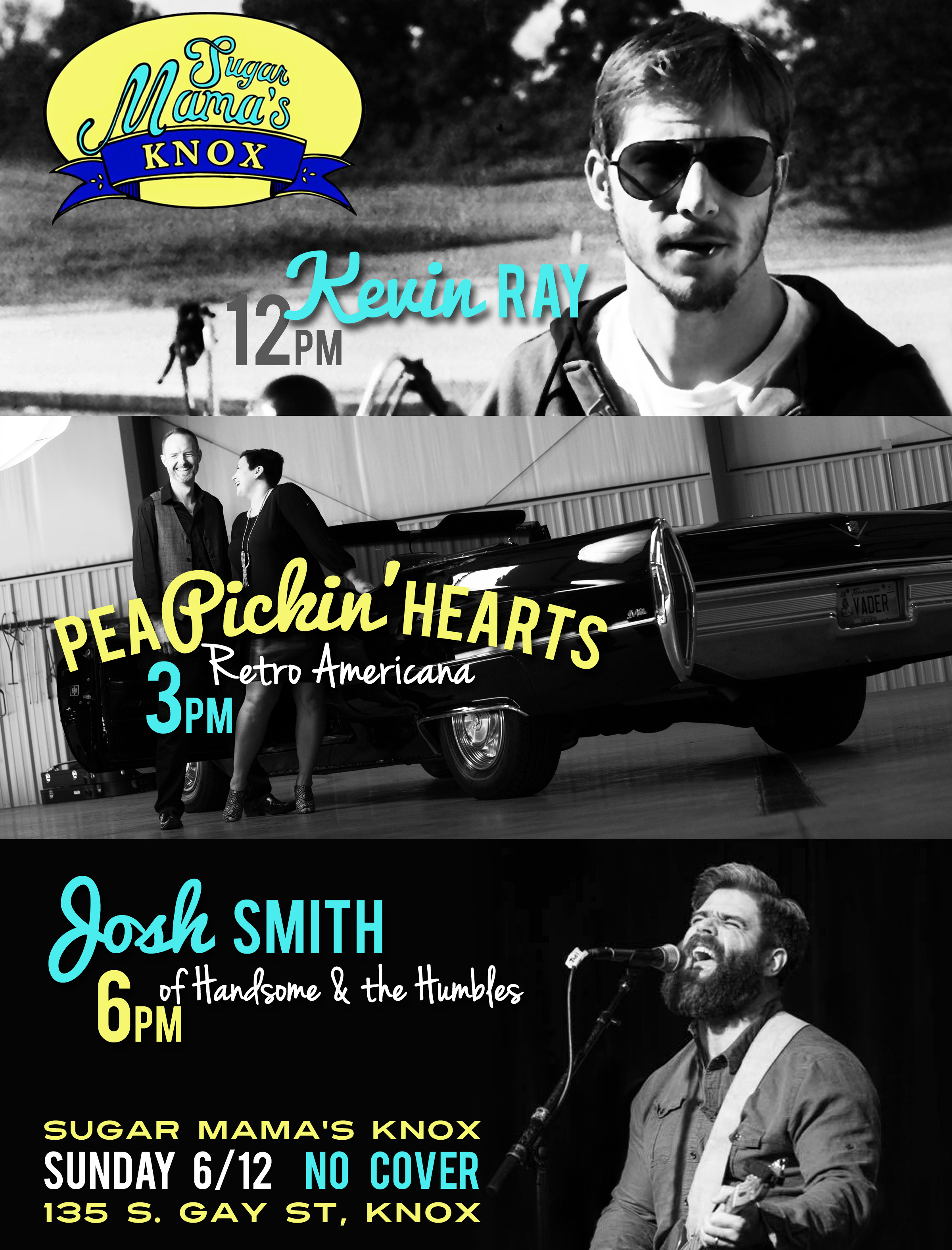 Hear the Pea Pickin' Hearts at Sugar Mama's Knox in Knoxville, TN!