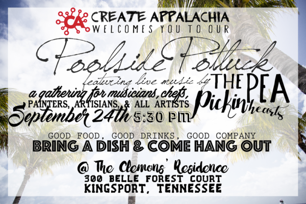 Hear the Pea Pickin' Hearts at the Create Appalachia Poolside Potluck in Kingsport, TN!