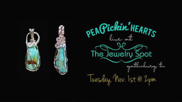 Hear the Pea Pickin' Hearts at The Jewelry Spot at the Covered Bridge in the Glades in Gatlinburg, TN!