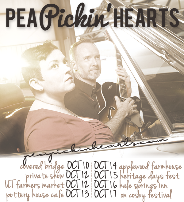 Find the Pea Pickin' Hearts at one of EIGHT shows this week!