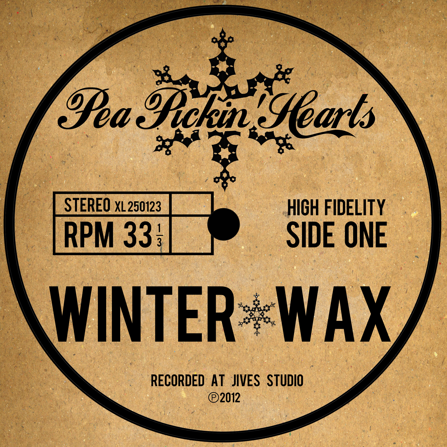 Winter Wax CD, a holiday album from the Pea Pickin' Hearts